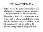 text color attributes