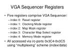 vga sequencer registers