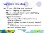 regression modelling21