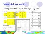 spatial autocorrelation11