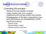 spatial autocorrelation18