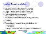spatial autocorrelation5