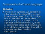 components of a formal language4