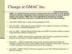 change at gmac inc