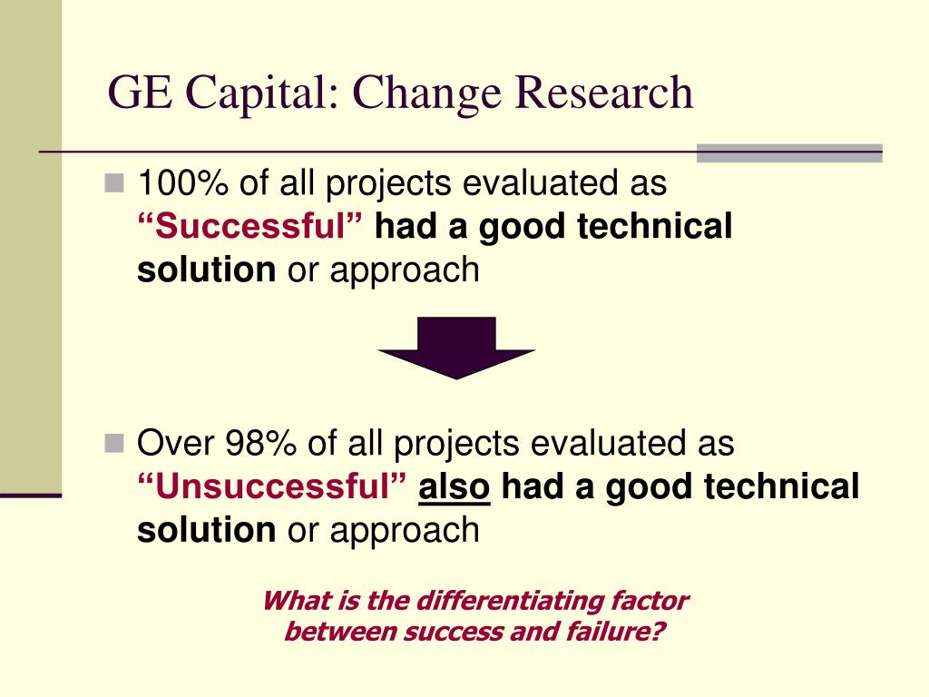 GE Capital: Change Research