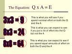 the equation q x a e