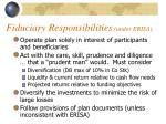 fiduciary responsibilities under erisa