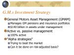 g m s investment strategy