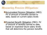 measuring pension obligations