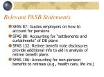 relevant fasb statements