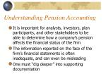 understanding pension accounting