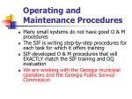 operating and maintenance procedures83
