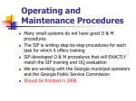 operating and maintenance procedures84