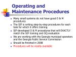 operating and maintenance procedures85