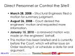 direct personnel or control the site