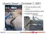 liberty street october 7 2001