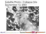 satellite photo collapse site september 12 2001