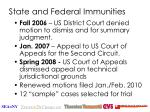 state and federal immunities