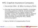wtc captive insurance company