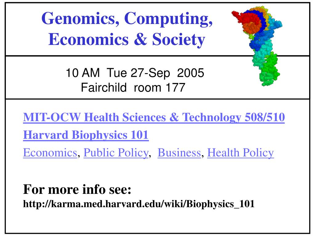 genomics computing economics society l.