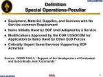 definition special operations peculiar