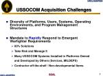 ussocom acquisition challenges
