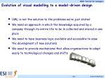 evolution of visual modelling to a model driven design1