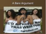 a bare argument