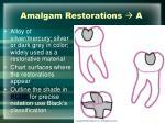 amalgam restorations a