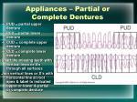 appliances partial or complete dentures