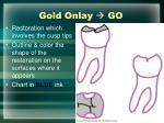 gold onlay go