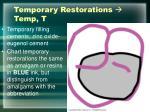 temporary restorations temp t