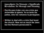 apocalipsis su mensaje y significado revelation its message and meaning