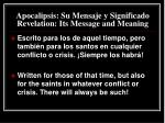 apocalipsis su mensaje y significado revelation its message and meaning6