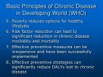 basic principles of chronic disease in developing world who27