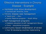 effective interventions in chronic disease exampl e