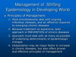 management of shifting epidemiology in developing world