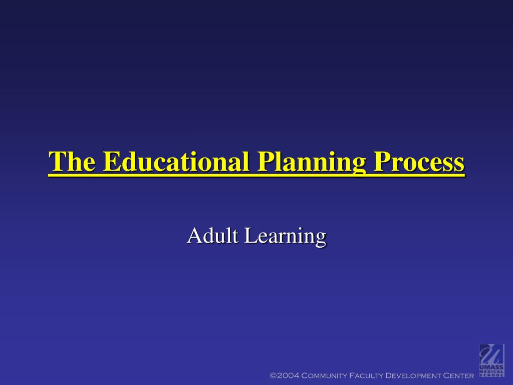the educational planning process l.