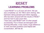 reset learning problems22