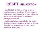reset relaxation42