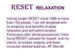 reset relaxation44