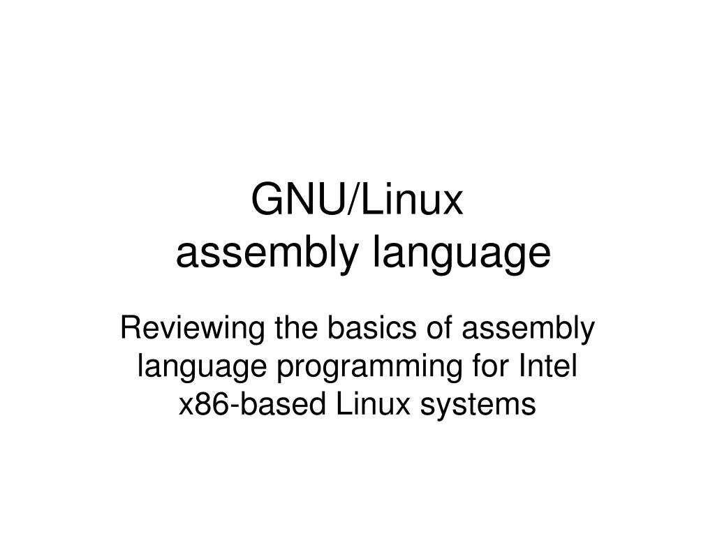 gnu linux assembly language l.