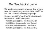 our feedback s demo