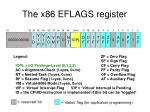 the x86 eflags register