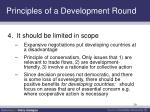 principles of a development round2