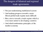the dangers of bilateral and regional trade agreements