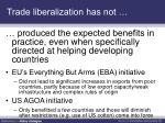 trade liberalization has not