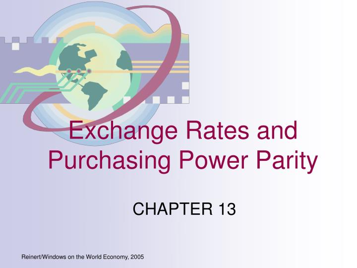 exchange rates and purchasing power parity n.