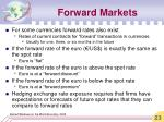 forward markets