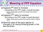 meaning of ppp equation